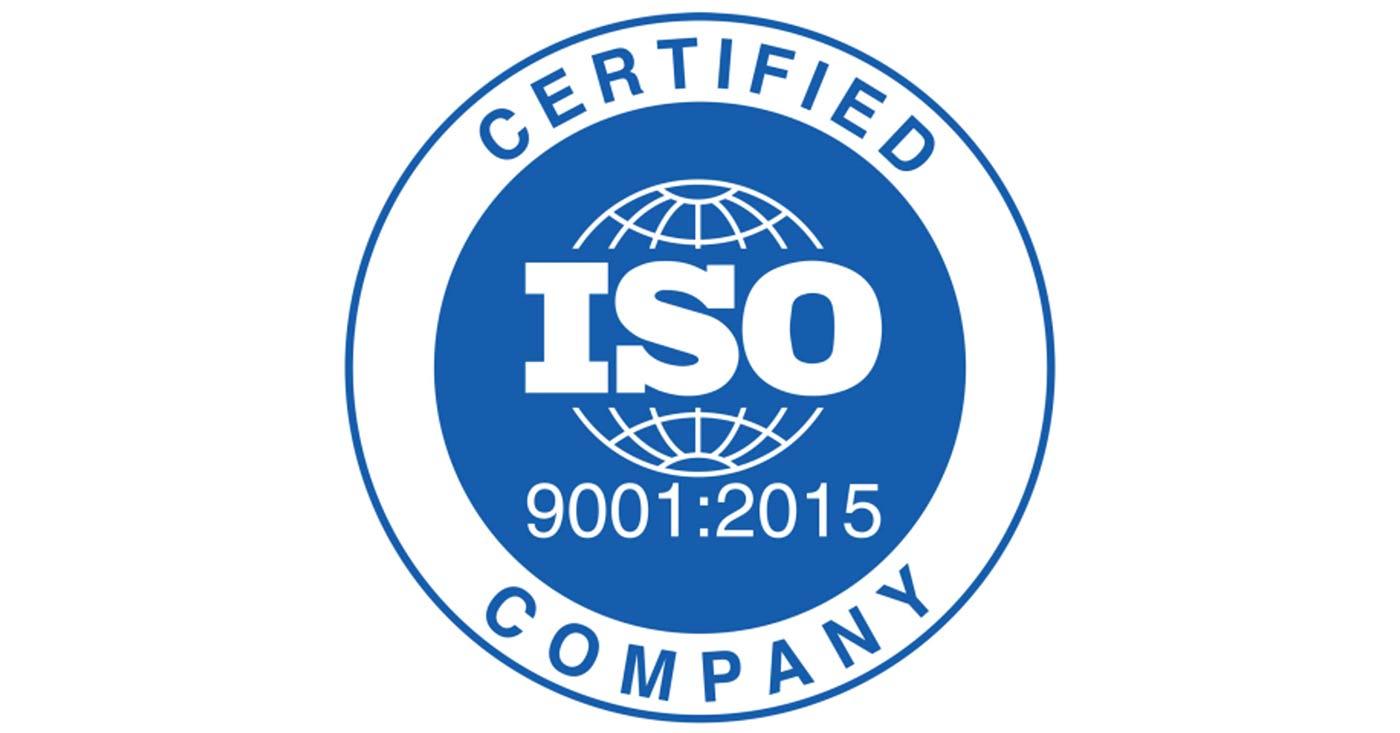 ISO Certified badge.