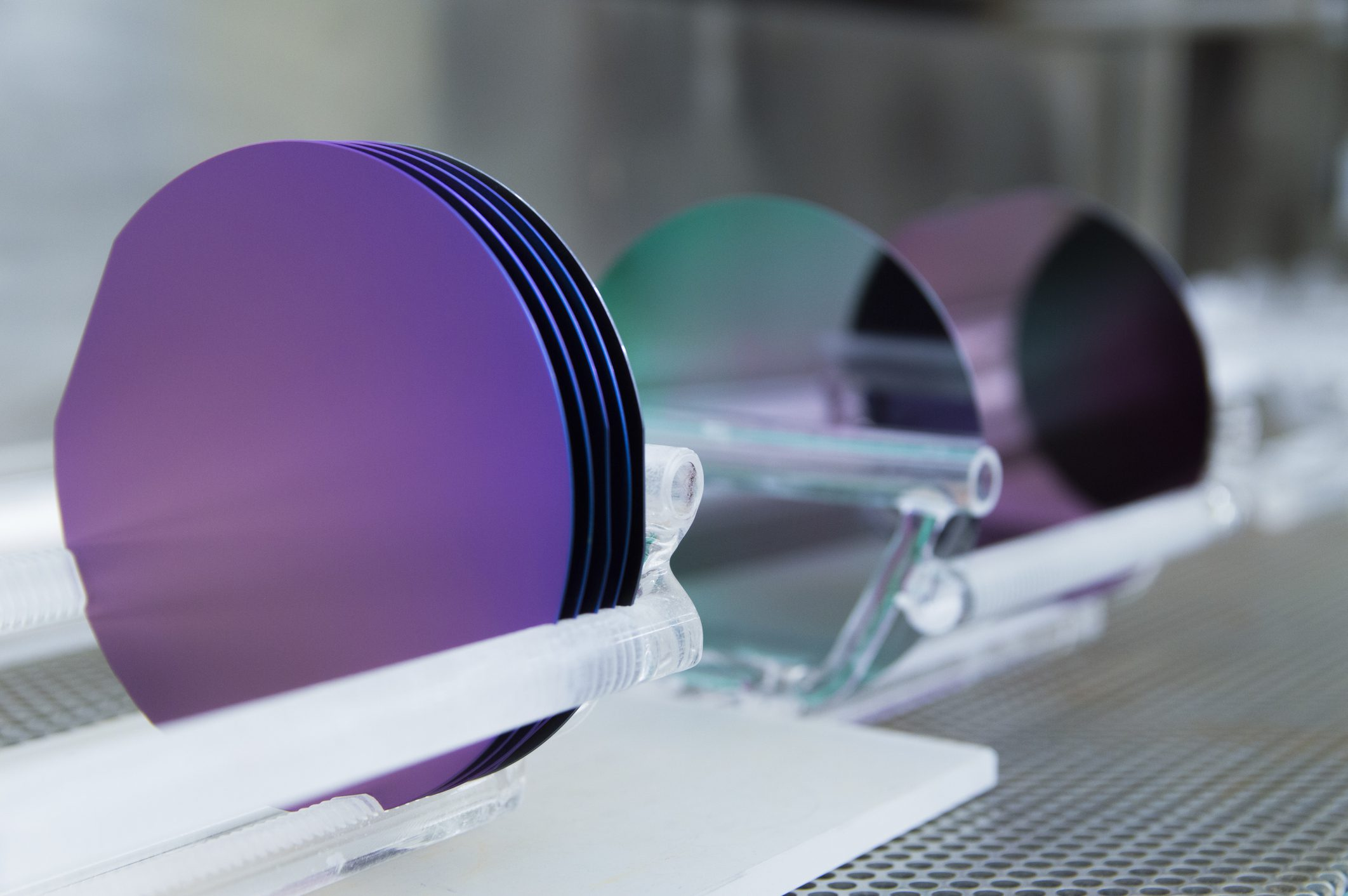 Silicon wafers photo.