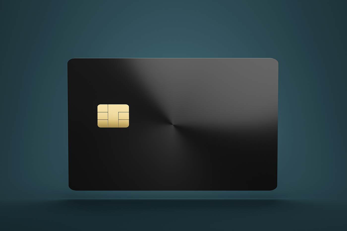 Photo of black smartchip credit card.