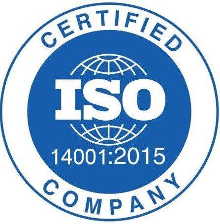 ISO 14001 badge.